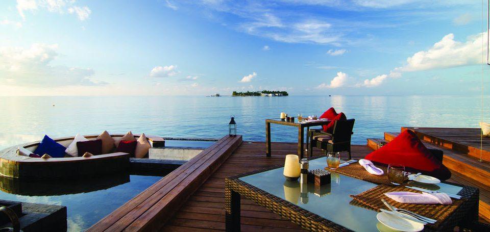 water sky Boat Sea vehicle Ocean caribbean passenger ship overlooking wooden Resort travel watercraft shore