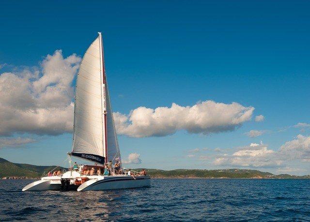 sky water watercraft transport sailing vessel Boat sailboat vehicle sail sailing Sea Ocean sailing ship yacht catamaran ship mast sailboat racing clouds day