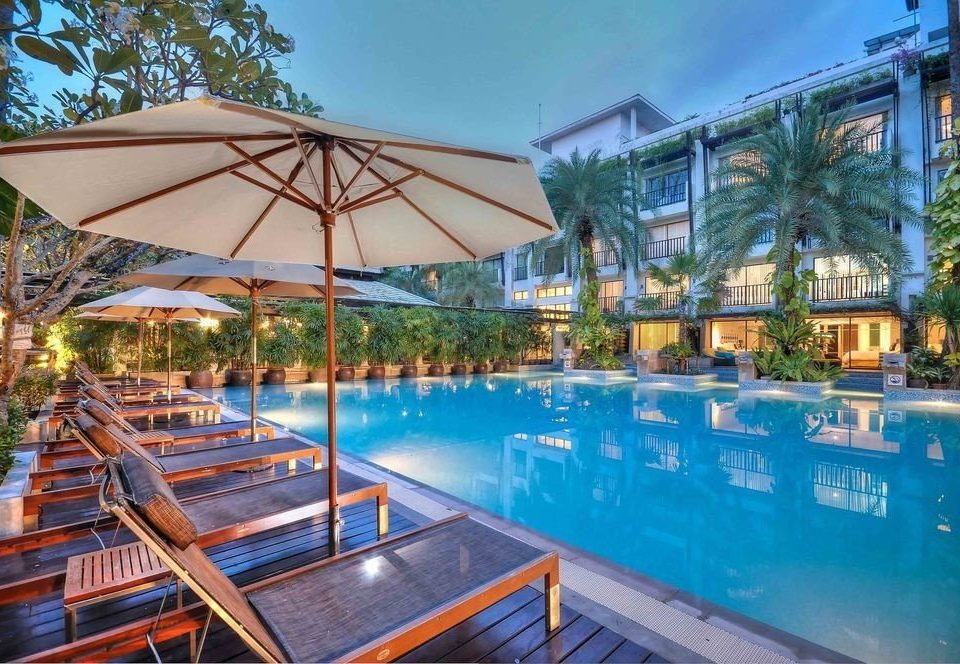 tree swimming pool property leisure Resort condominium resort town Villa eco hotel blue Boat