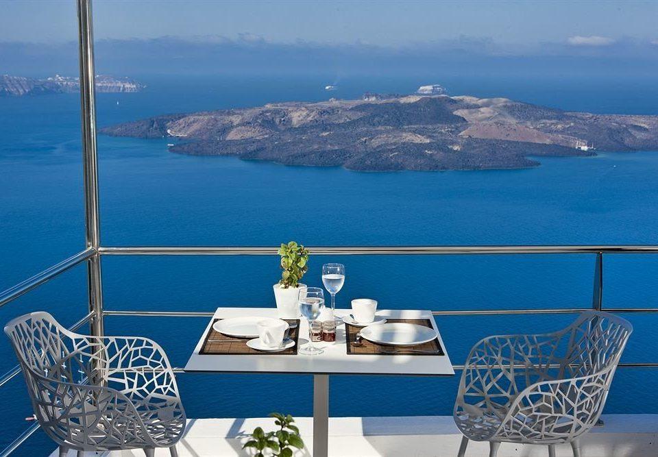 sky mountain water overlooking passenger ship Sea vehicle Boat yacht blue