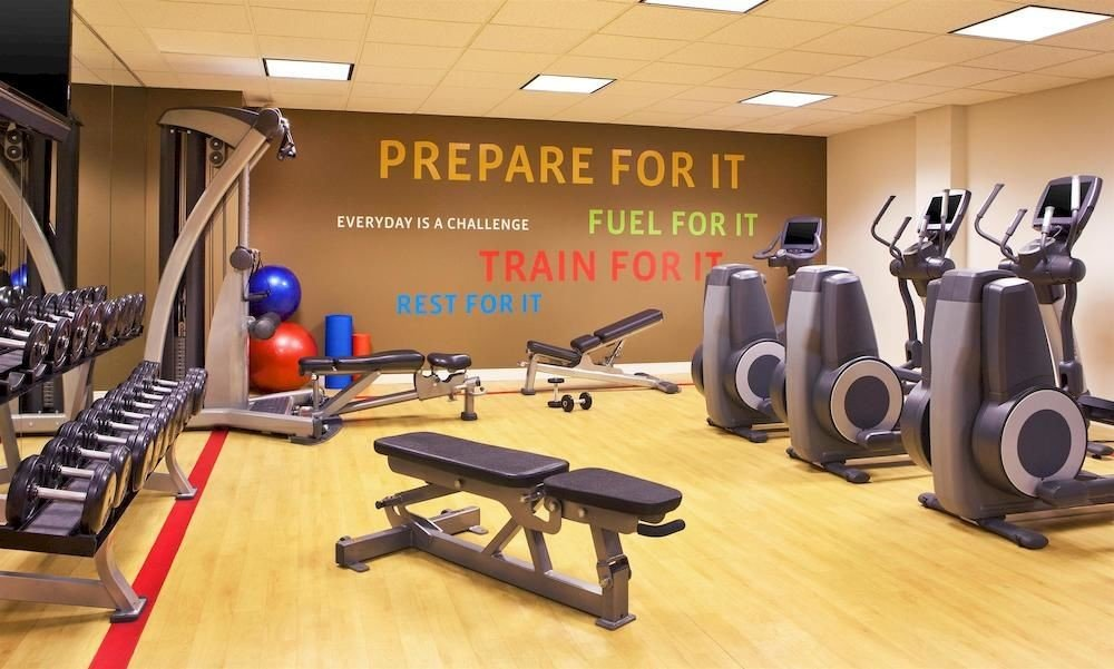 structure gym sport venue desk physical fitness bodypump office