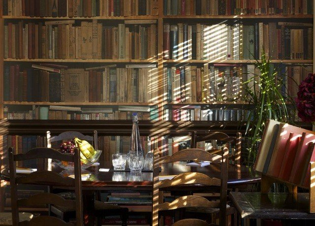 shelf chair book library scene building restaurant set
