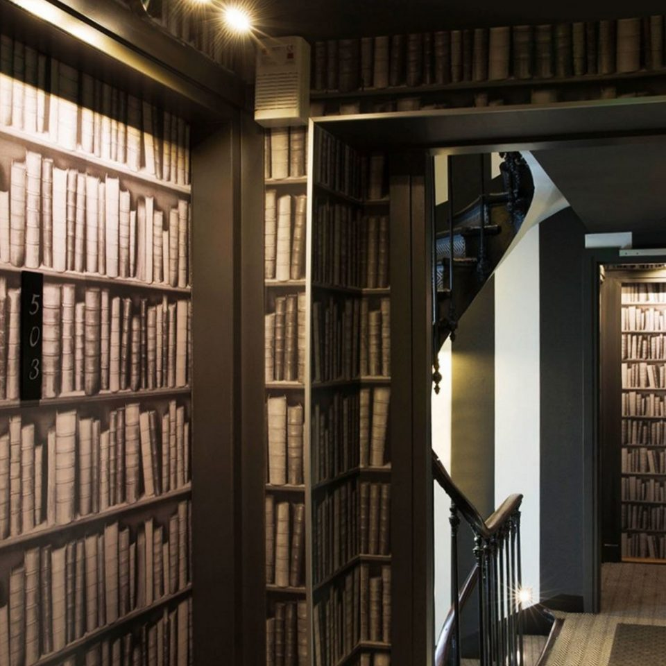 shelf library book building scene home hall