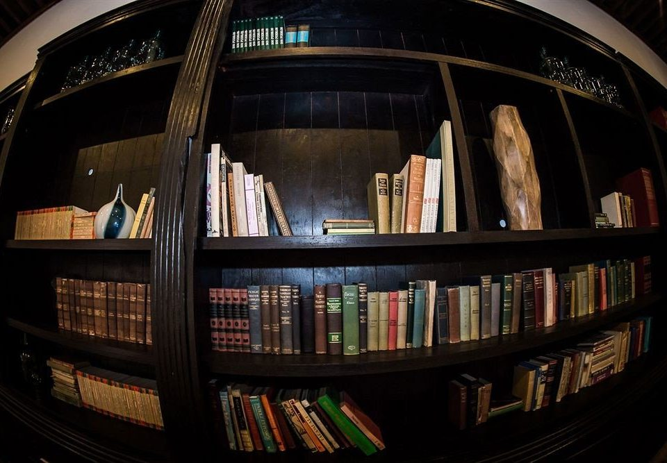 book shelf fisheye lens photography shape full