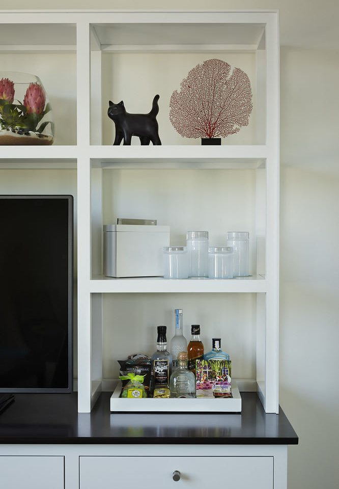 white living room shelf shelving home cabinetry sink bookcase