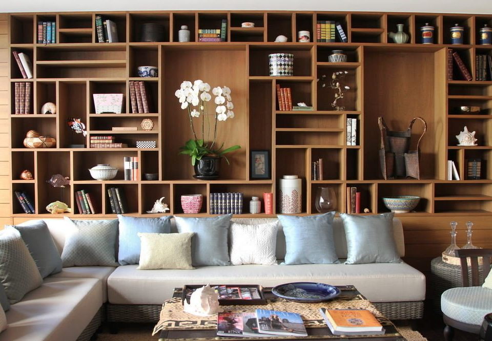 sofa shelf living room shelving home bookcase seat cabinetry