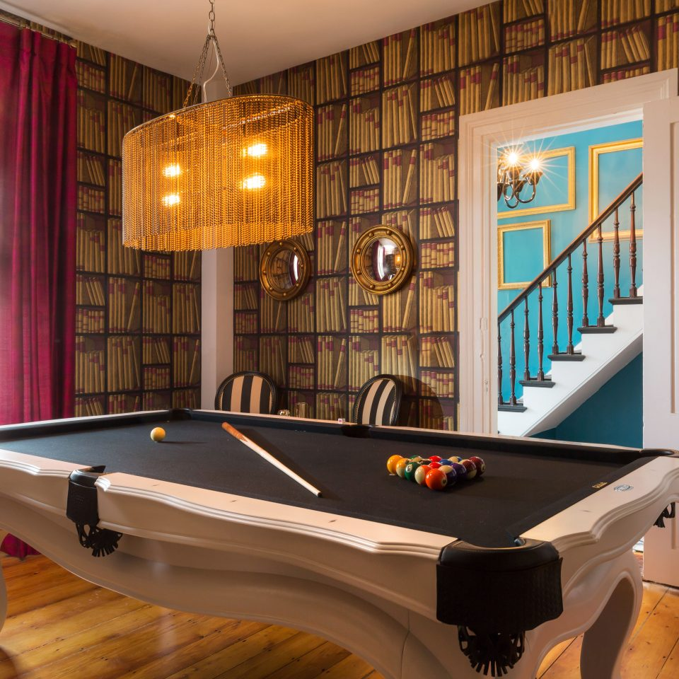 Boutique Budget Hip Hotels recreation room billiard room billiard table hardwood games basement