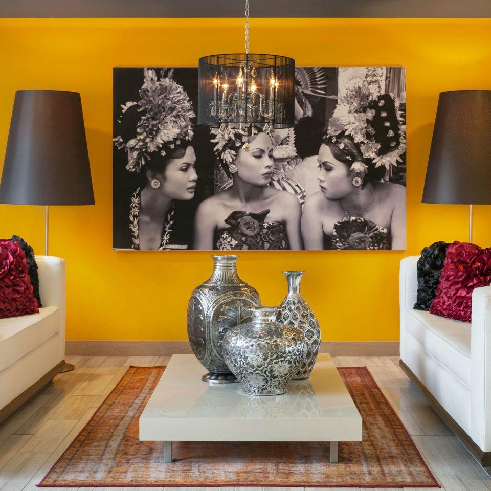 Boutique Budget Lobby living room modern art home art colored