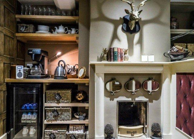 shelf cabinetry Boutique home living room closet