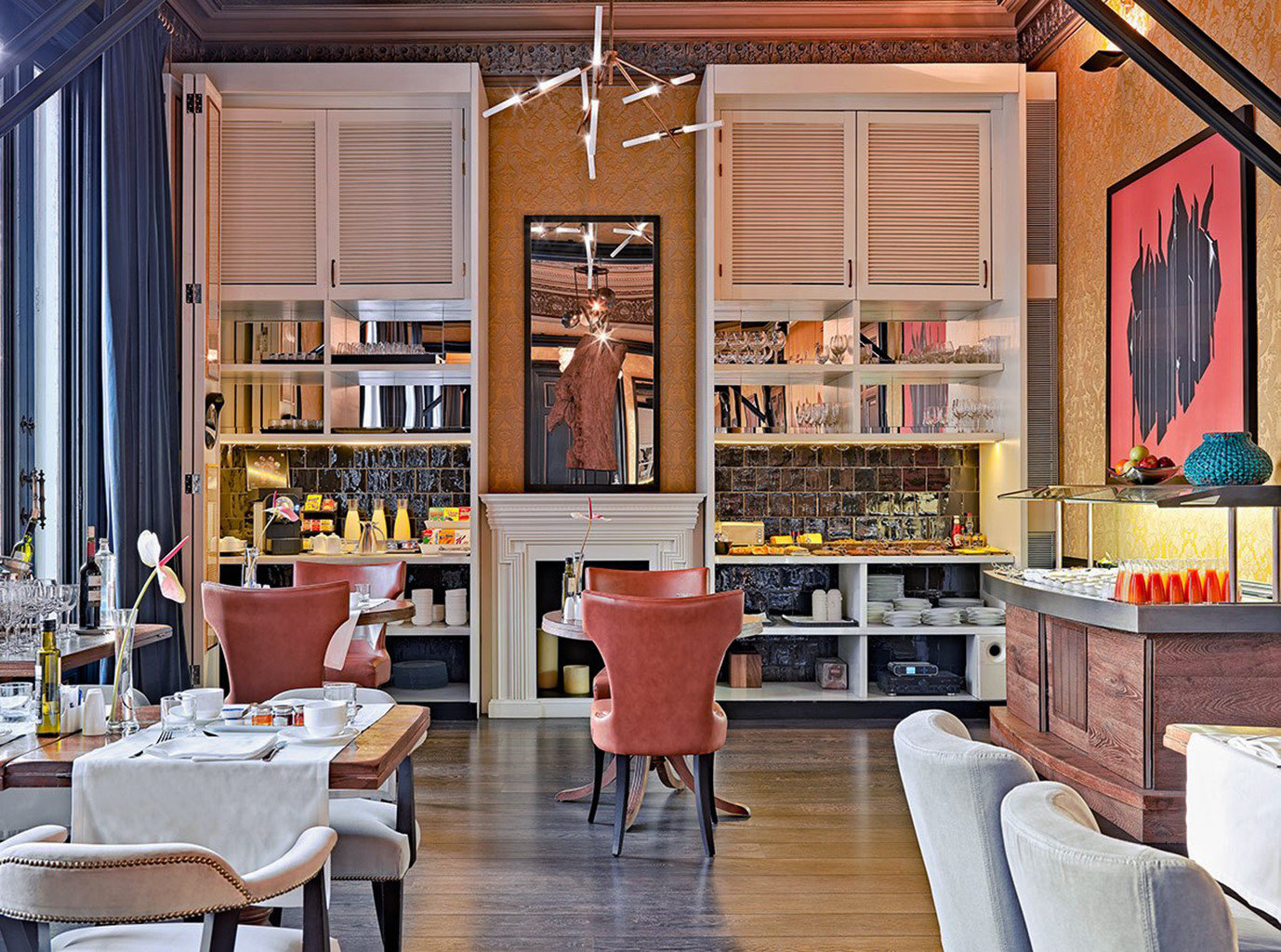 home living room restaurant cabinetry library Boutique