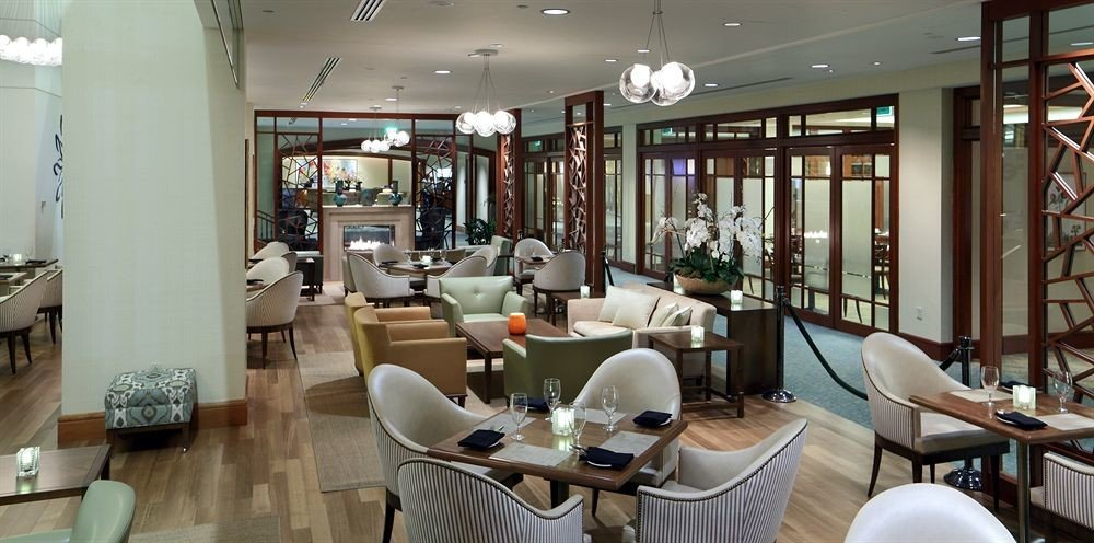 City Classic Dining chair property Lobby Boutique restaurant living room condominium Resort Modern leather dining table
