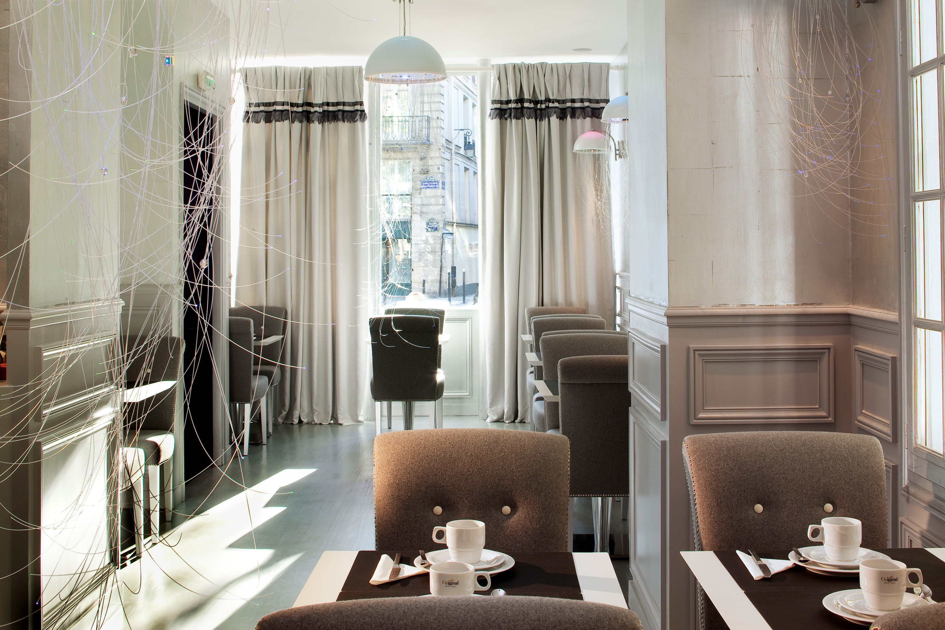 Boutique City Dining Drink Eat Hip Historic property curtain home living room Suite textile window treatment