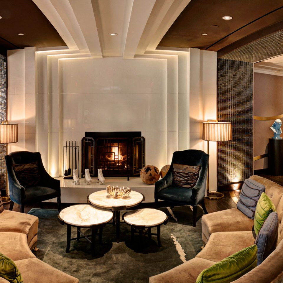 Boutique City Dining Drink Eat Fireplace Hip Lobby living room mansion Suite home recreation room nice Modern