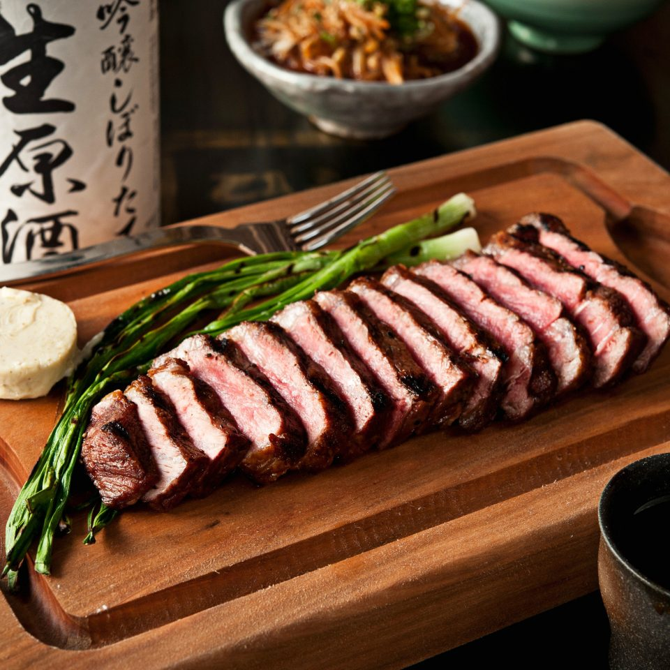 Boutique City Dining Eat Modern food wooden meat cuisine grilling kobe beef steak