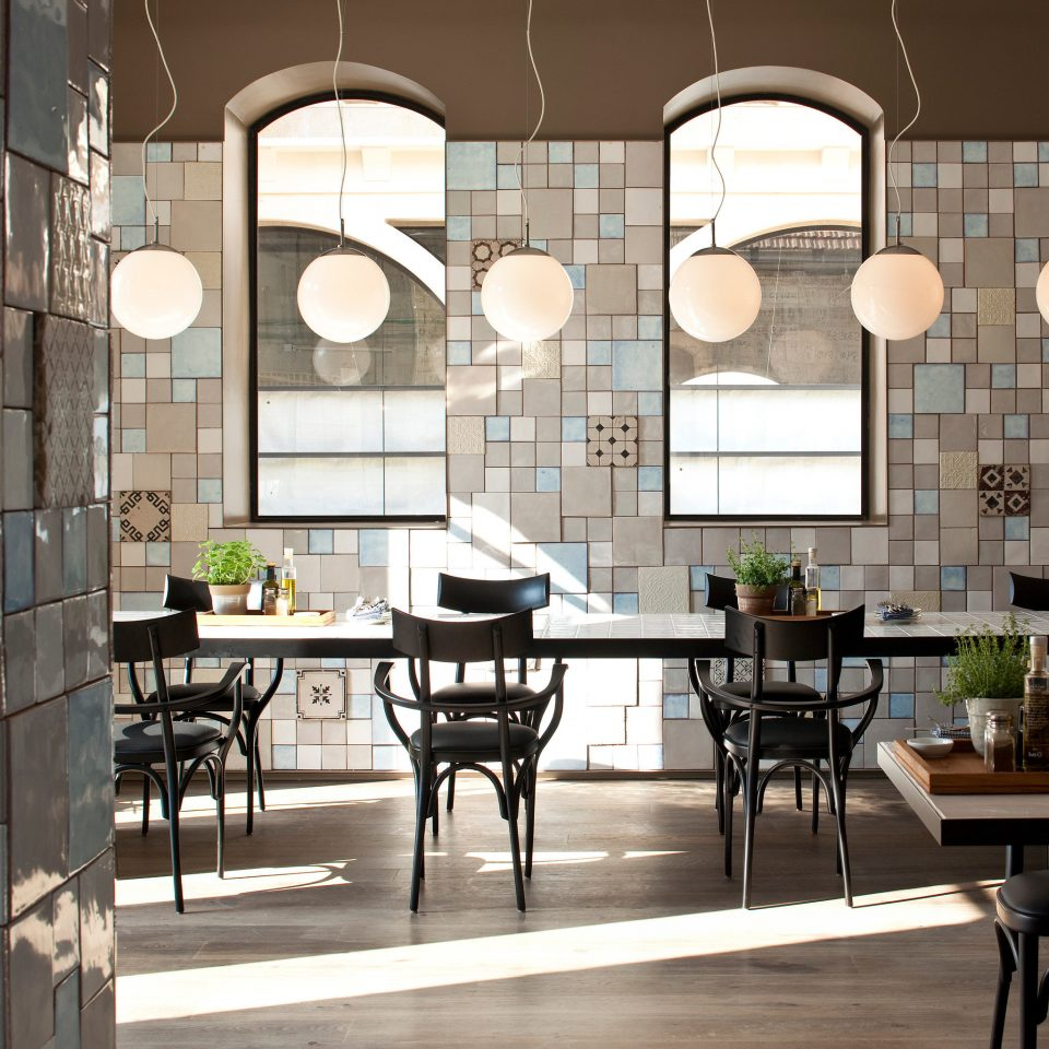 Boutique City Dining Eat Hip Modern property home living room lighting condominium Lobby