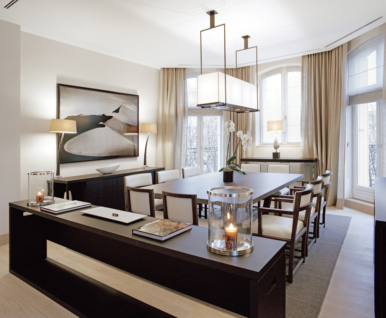 Boutique City Dining Elegant Luxury Suite property living room home lighting cabinetry Kitchen condominium