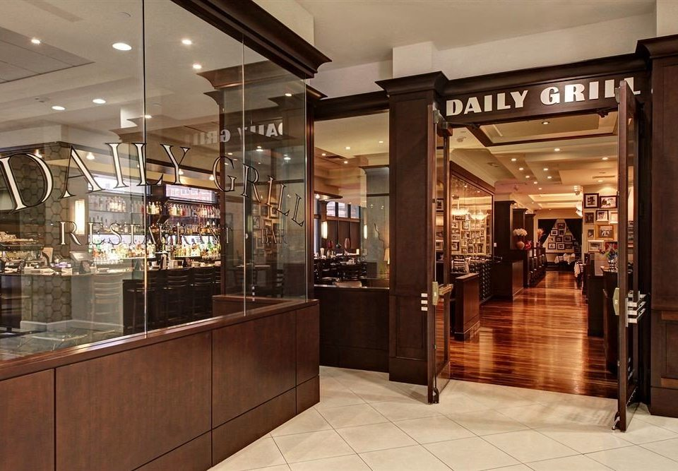 City Dining Boutique retail building Lobby bakery shopping mall restaurant steel stainless