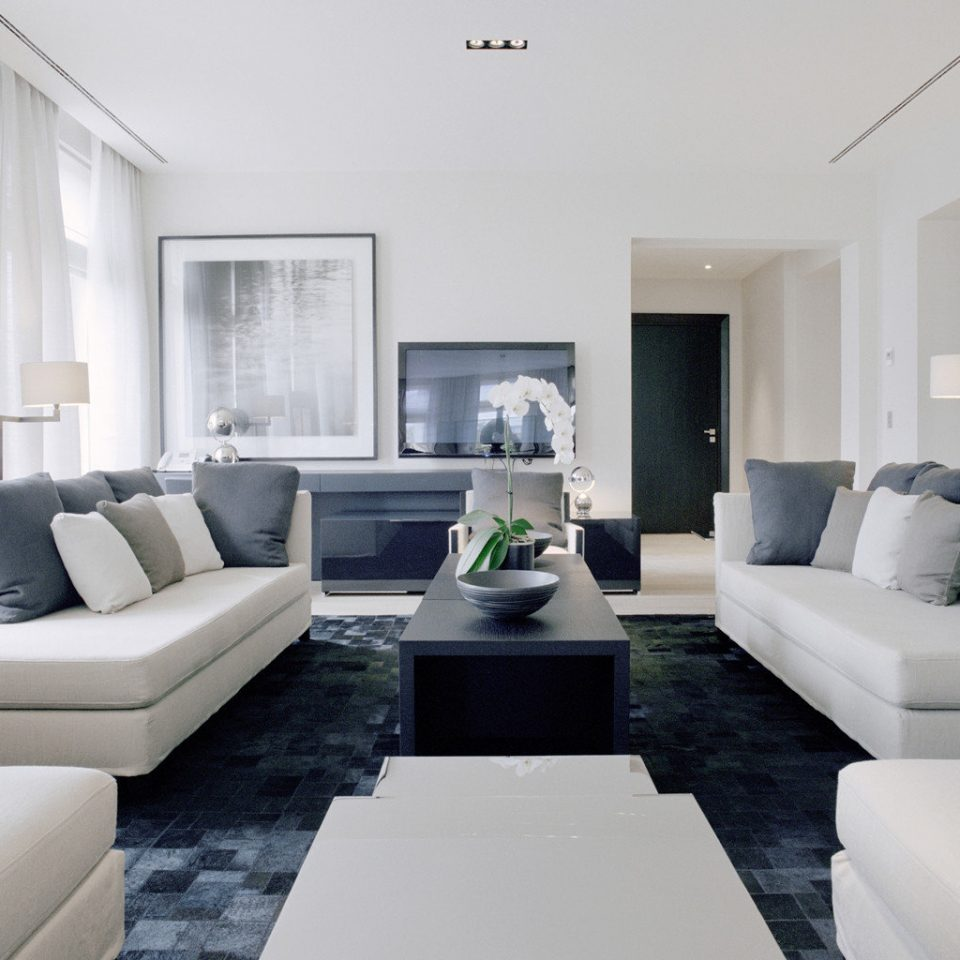 Boutique City Elegant Luxury Suite sofa living room property white condominium home Modern pillow seat flat leather