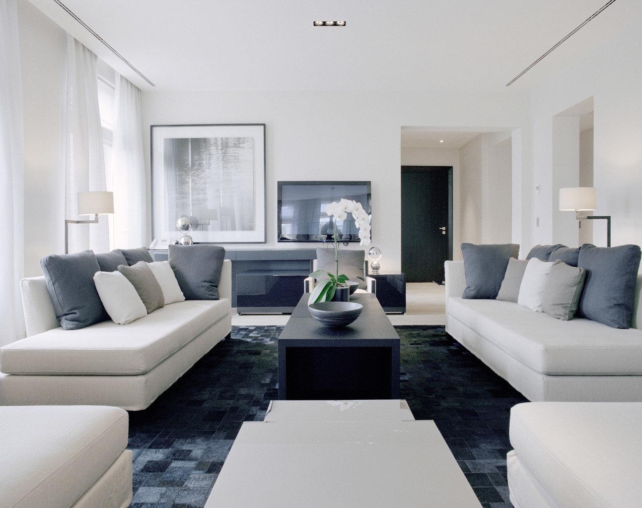 Boutique City Elegant Luxury Suite sofa living room property white condominium home Modern pillow seat flat leather