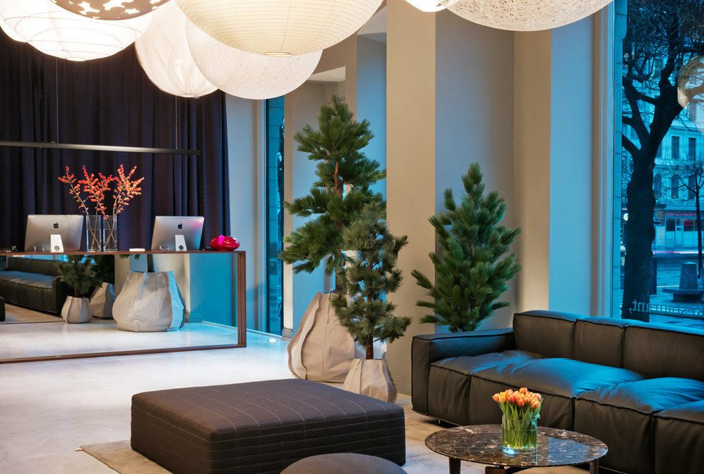 Boutique City Hip Hotels Lobby Lounge Modern Party Stockholm Sweden living room lighting home