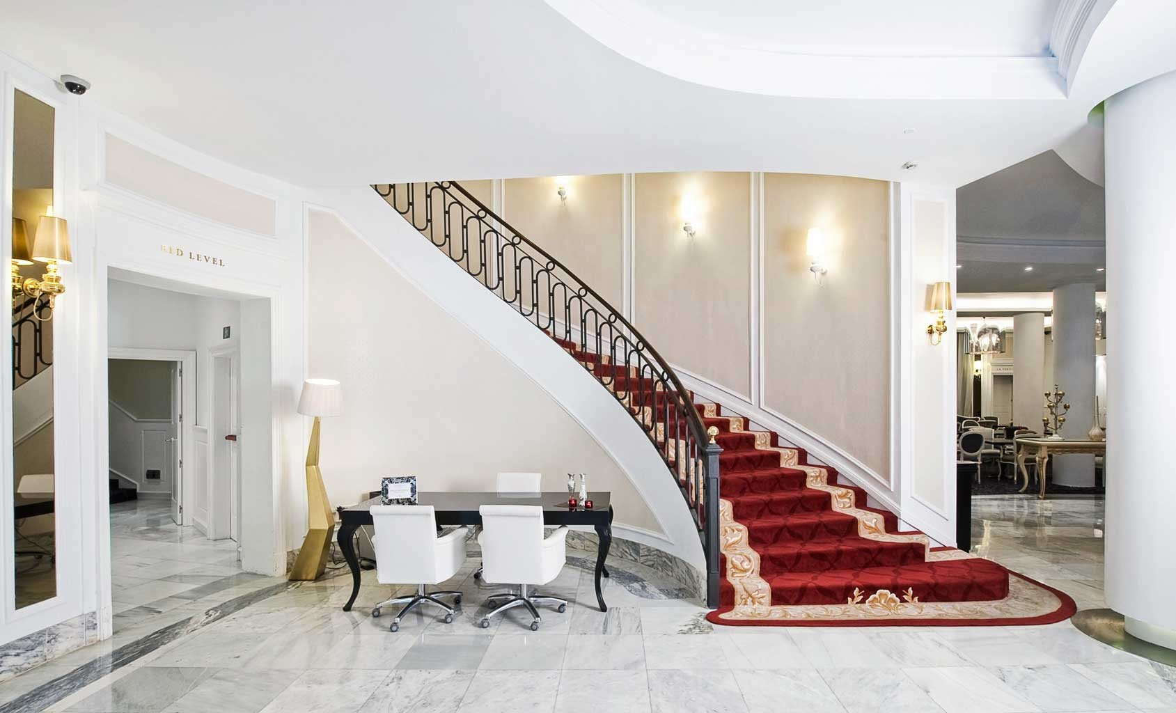 Boutique City Lobby property stairs home living room flooring mansion baluster loft