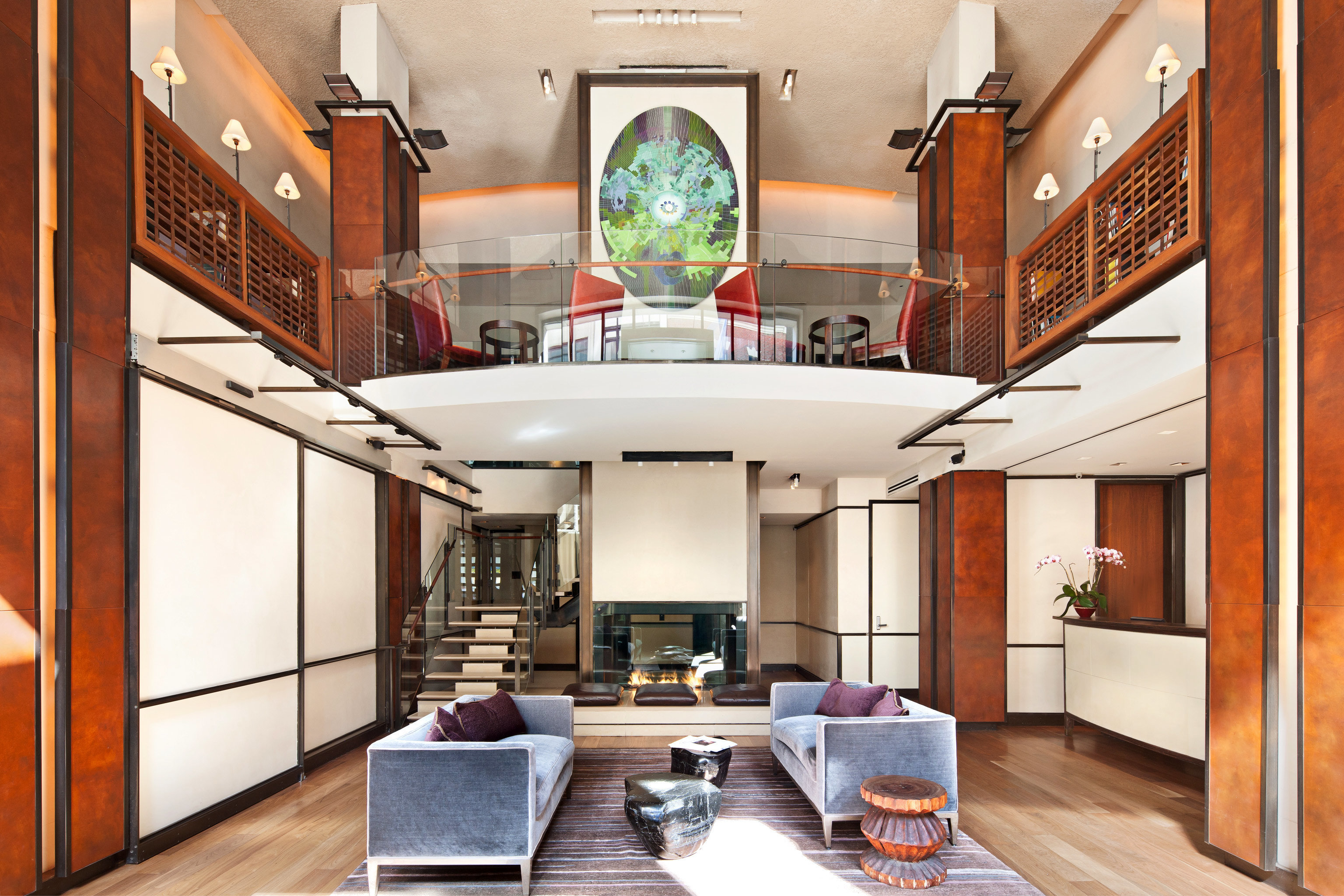 Boutique City Lobby Lounge Modern living room property home hardwood mansion loft cottage farmhouse