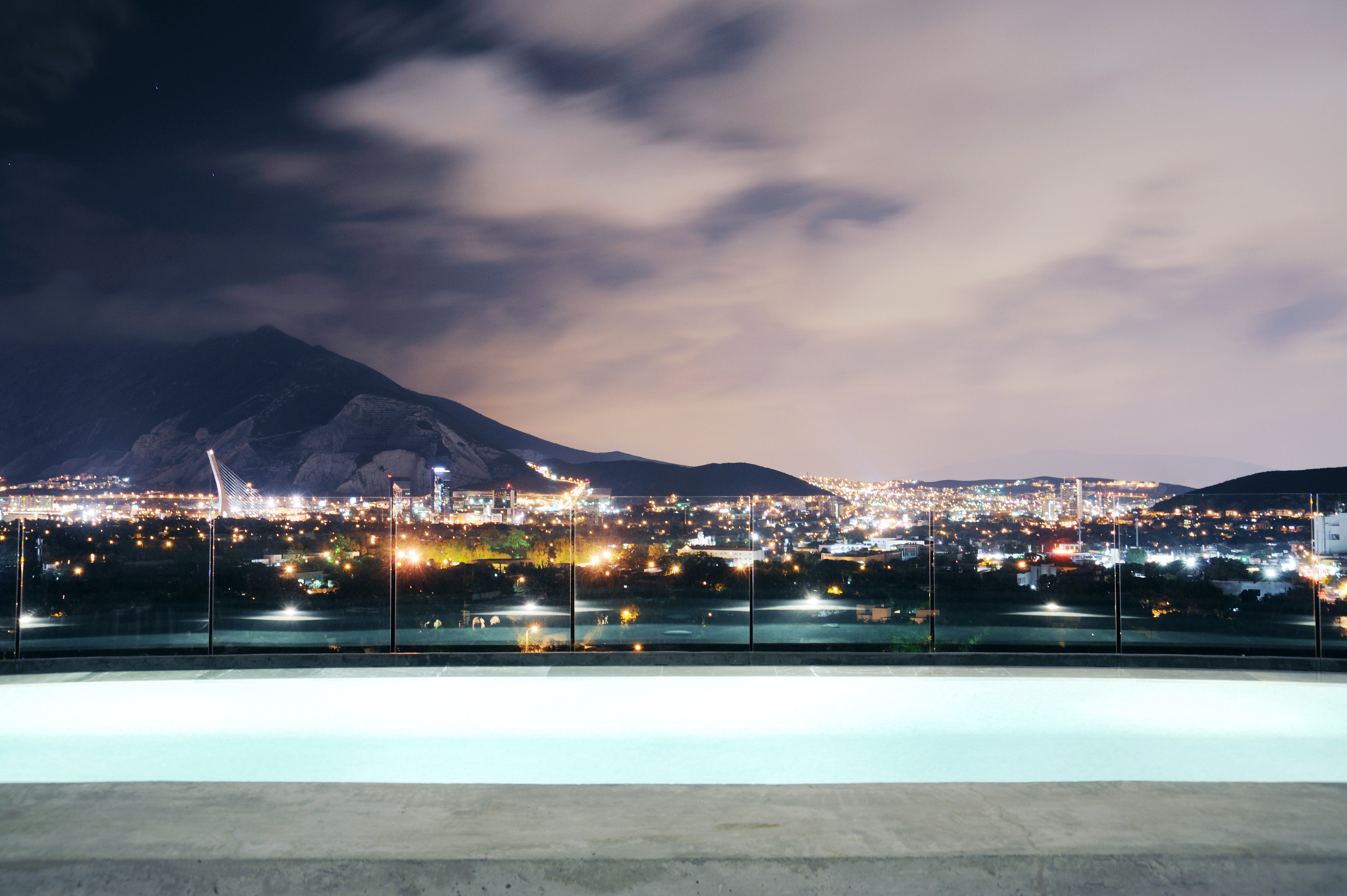 Boutique Modern Mountains Pool Scenic views sky snow weather night City atmosphere of earth sport venue evening cityscape dusk skyline stadium panorama shore