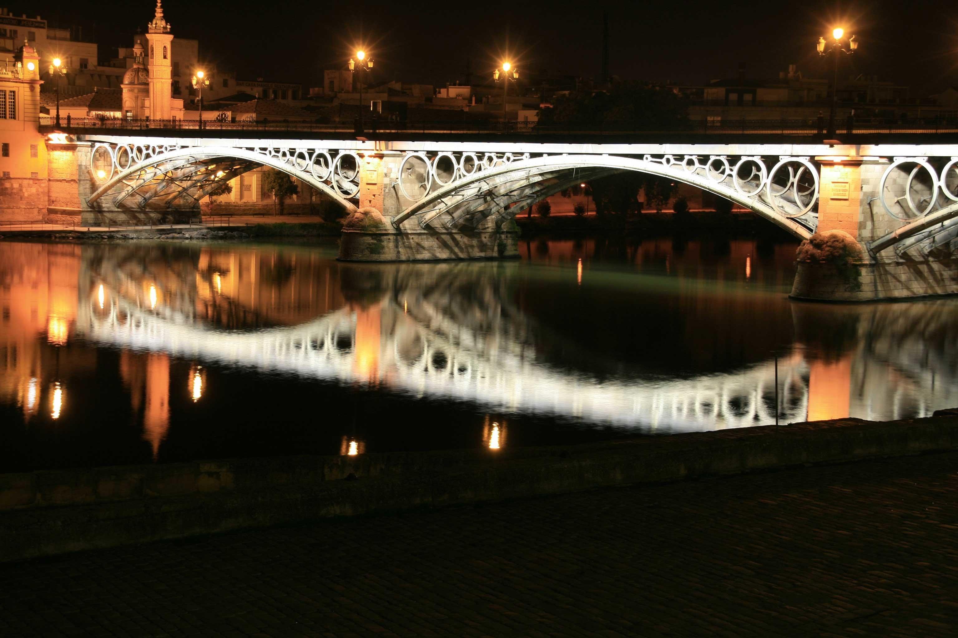 Boutique City River building bridge night light darkness arch evening cityscape dusk nonbuilding structure