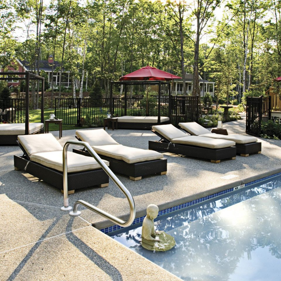 Boutique Country Outdoors Pool Romantic tree swimming pool backyard Courtyard yard home outdoor structure park Patio Deck landscape architect Garden lawn landscaping
