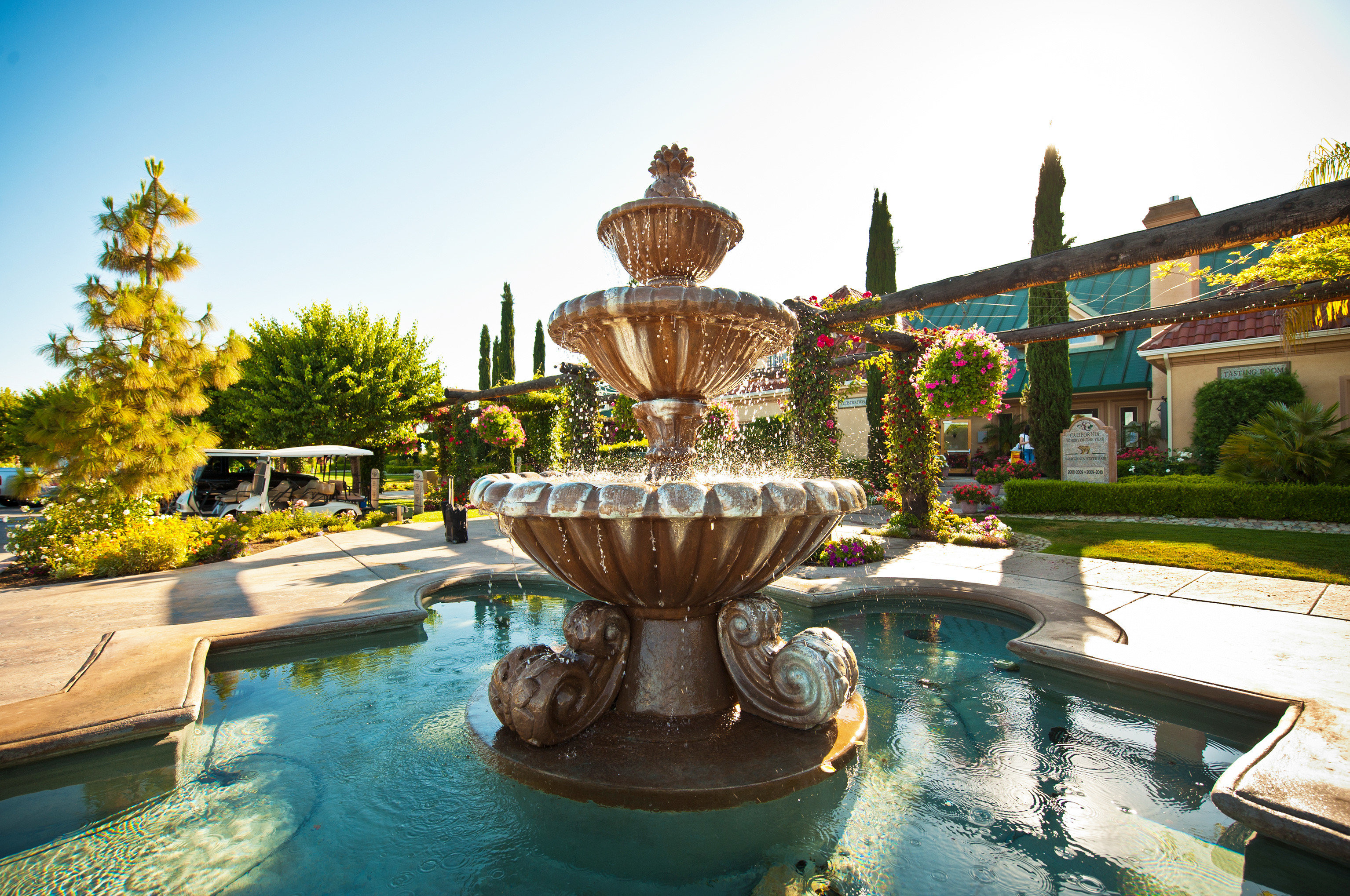 Boutique Country Grounds Romantic Winery sky fountain water feature swimming pool Resort Garden flower palace travel
