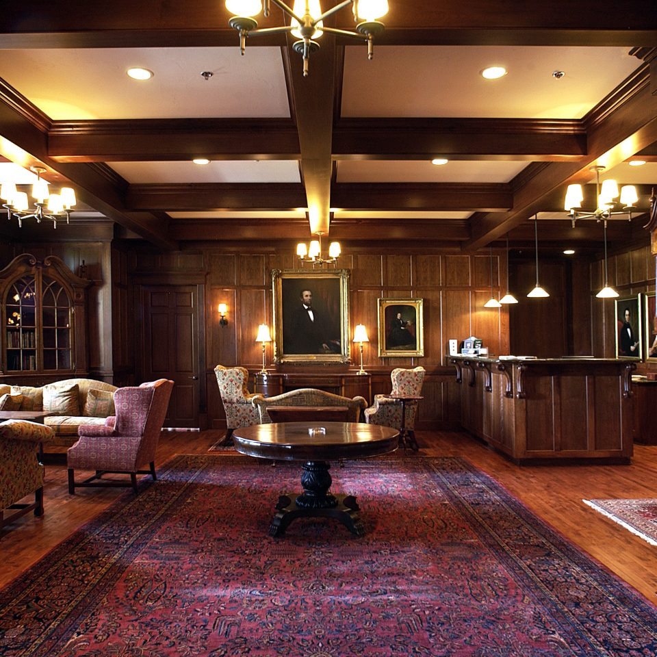 Boutique Country Historic Lobby Lounge recreation room billiard room home mansion lighting living room
