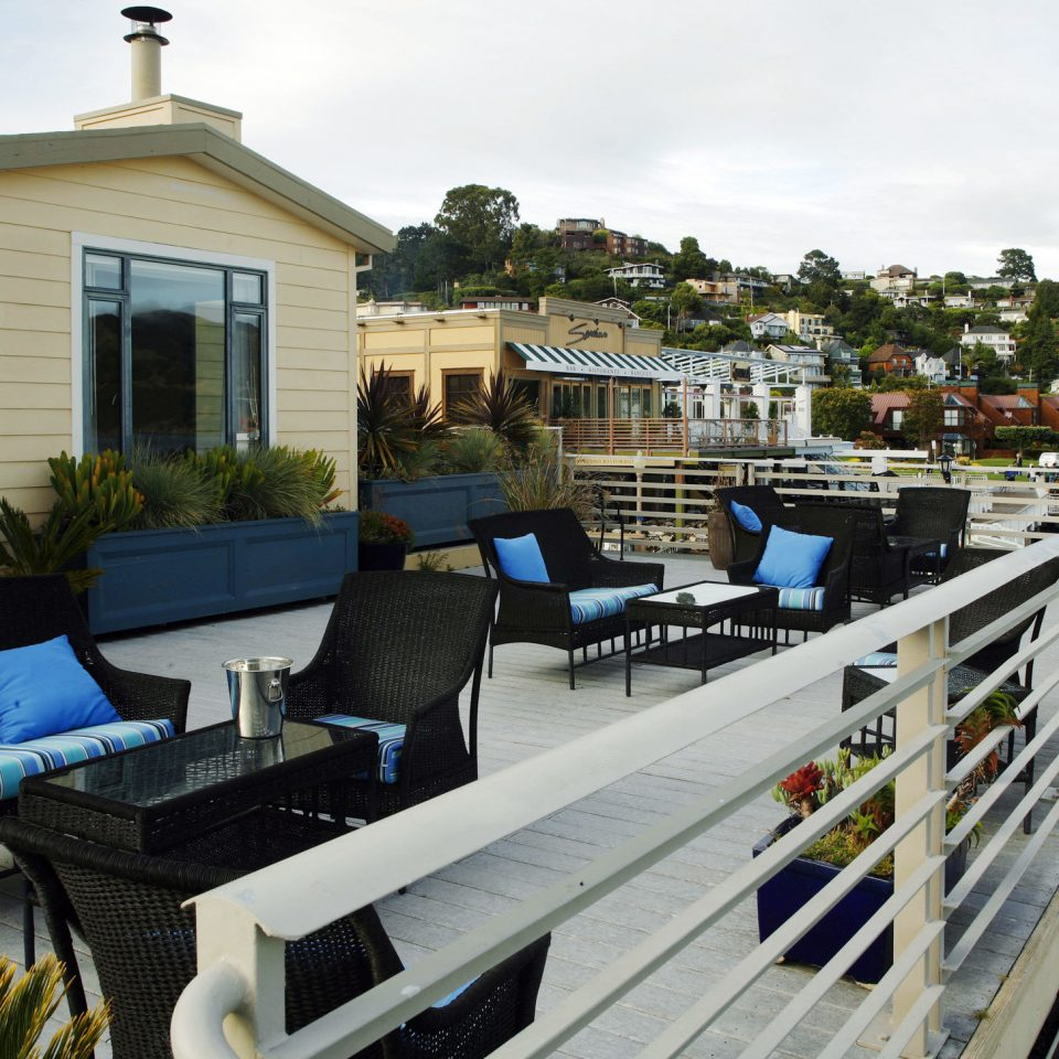 Boutique Deck Dining Drink Eat Exterior Patio Scenic Views Terrace Waterfront Sky Walkway Dock Home