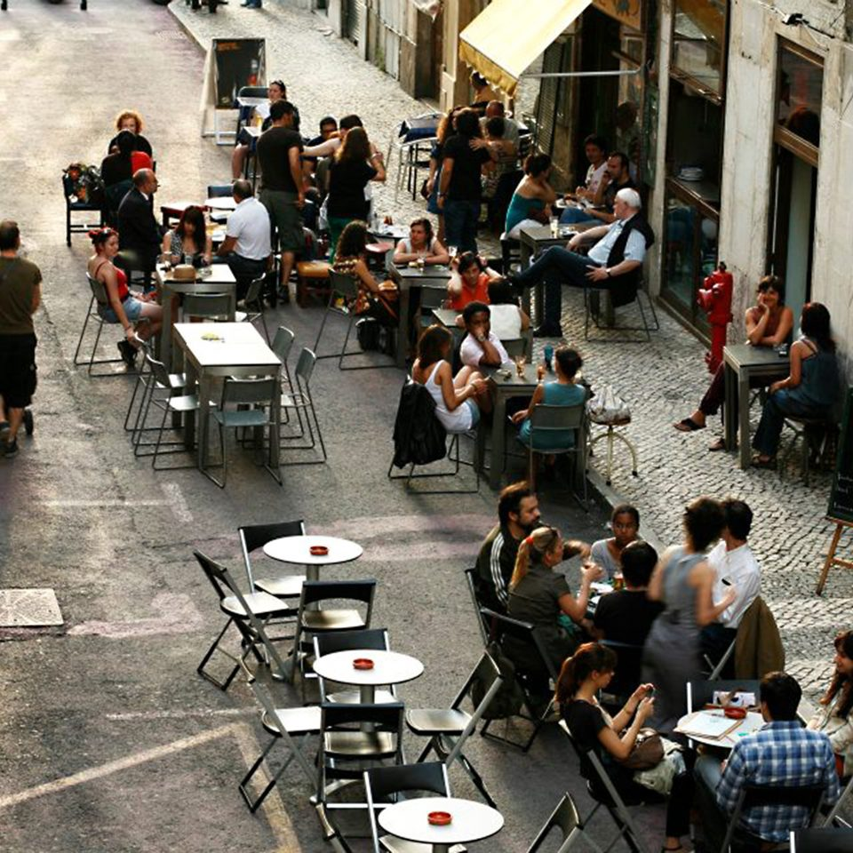 Boutique Dining Drink Eat Patio Shop crowd road street group infrastructure way sidewalk
