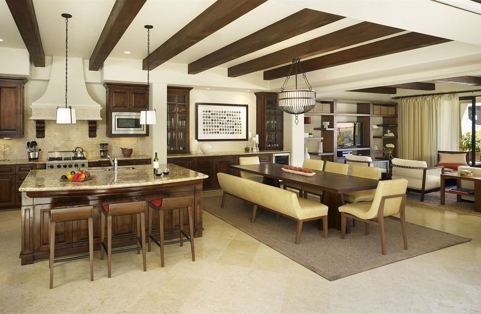 Boutique Dining Kitchen Modern Tropical property recreation room home restaurant Lobby cafeteria condominium Villa