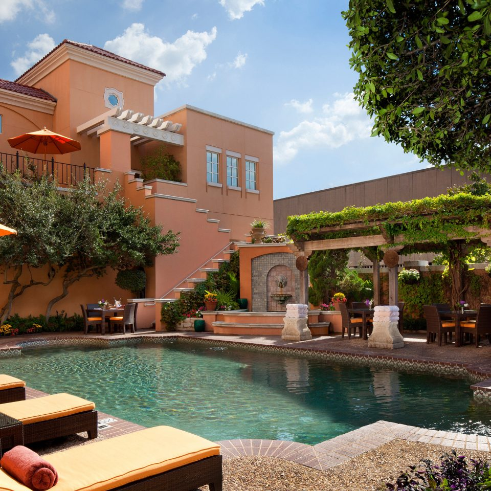 Boutique Elegant Patio Pool Romantic Terrace tree leisure property Resort building swimming pool house condominium home Villa mansion