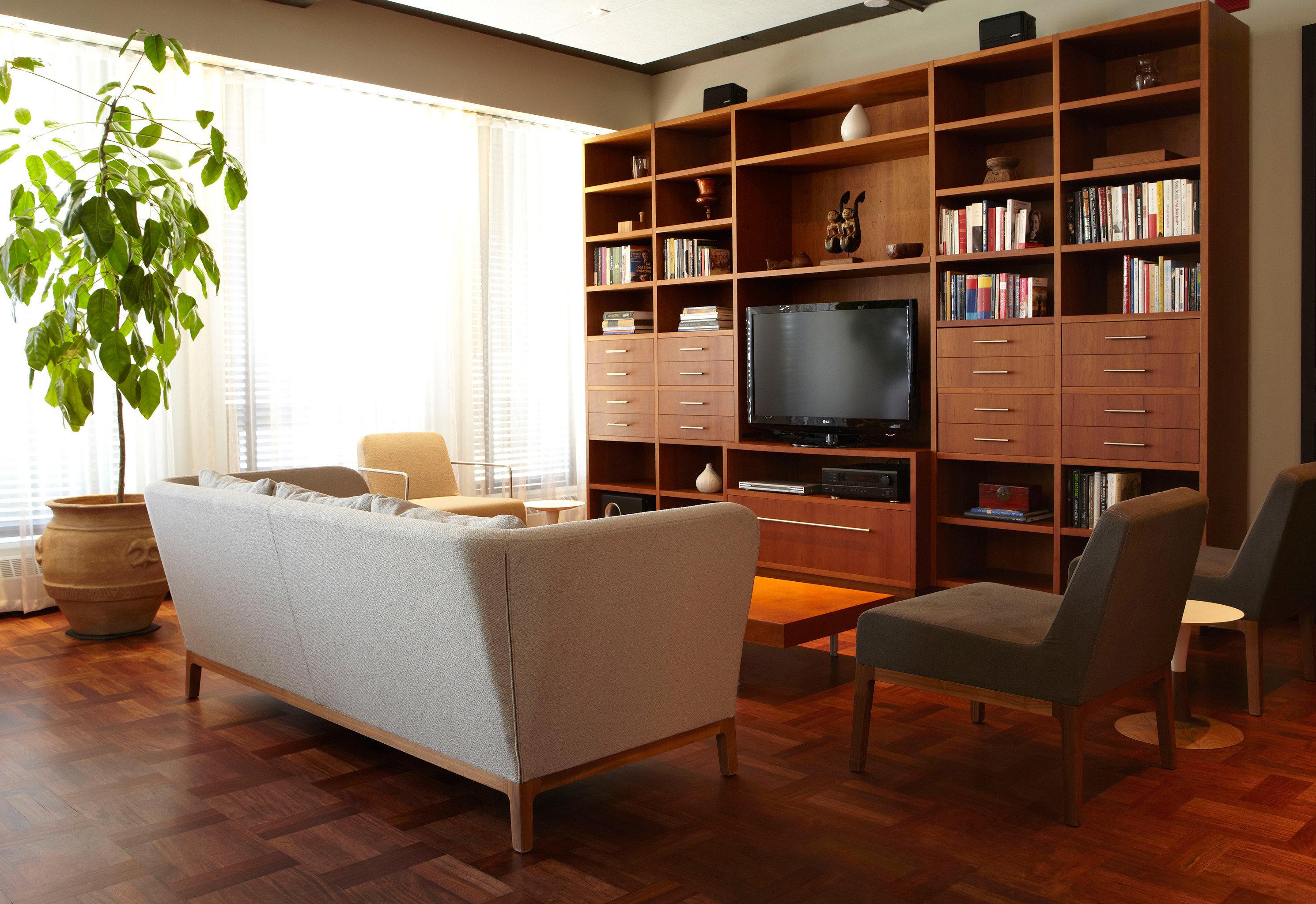 Boutique Entertainment Lounge Modern shelf living room office