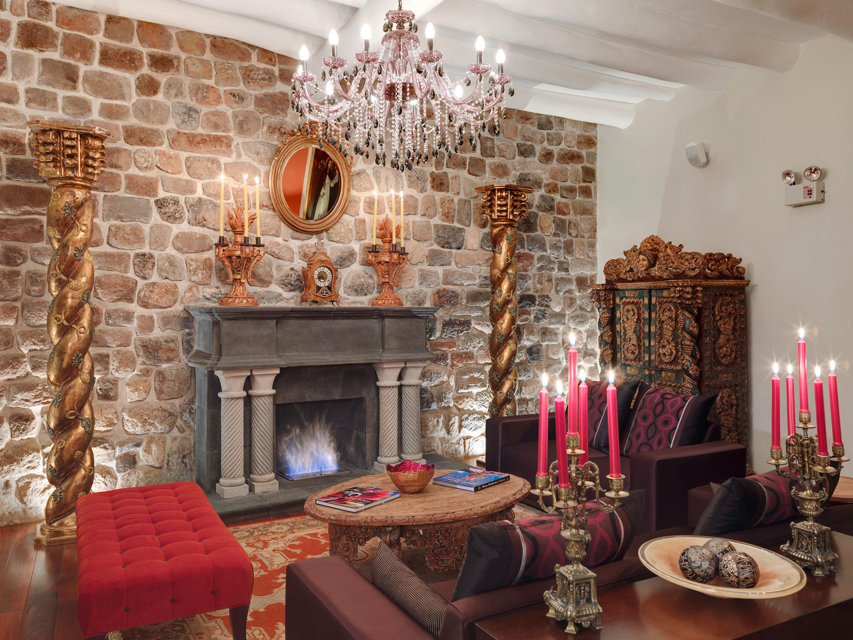 Boutique Fireplace Lounge living room property home cottage set