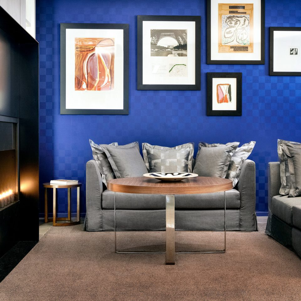 Boutique Fireplace Luxury Modern living room property home blue modern art