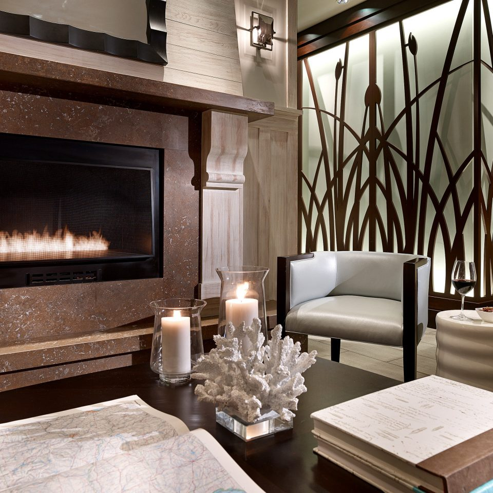 Boutique Fireplace Modern Waterfront property living room home lighting hearth Suite cottage