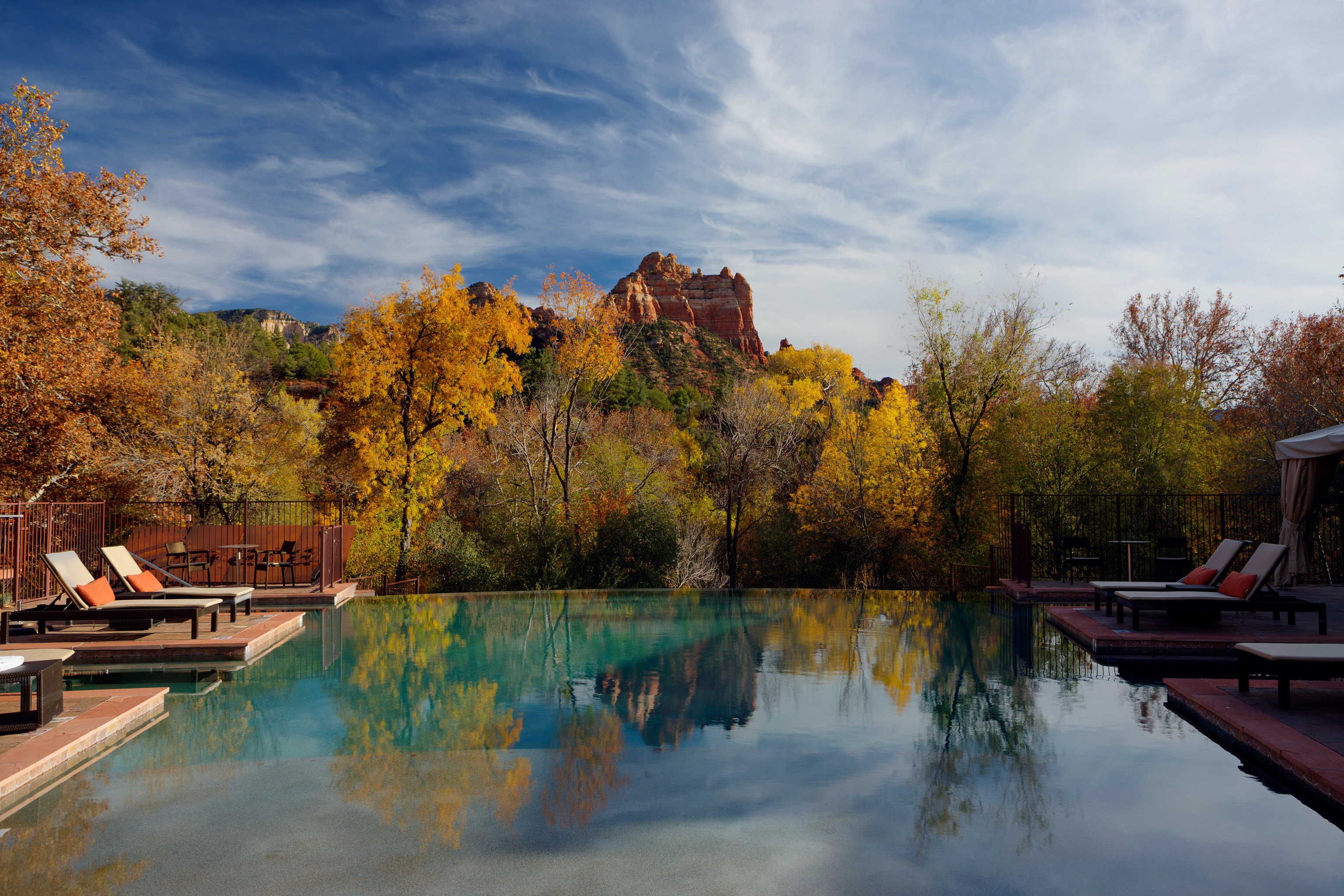 Boutique Modern Mountains Outdoors Pool Scenic views tree sky River water season autumn morning Lake evening landscape leaf waterway park traveling dusk pond Forest wooded