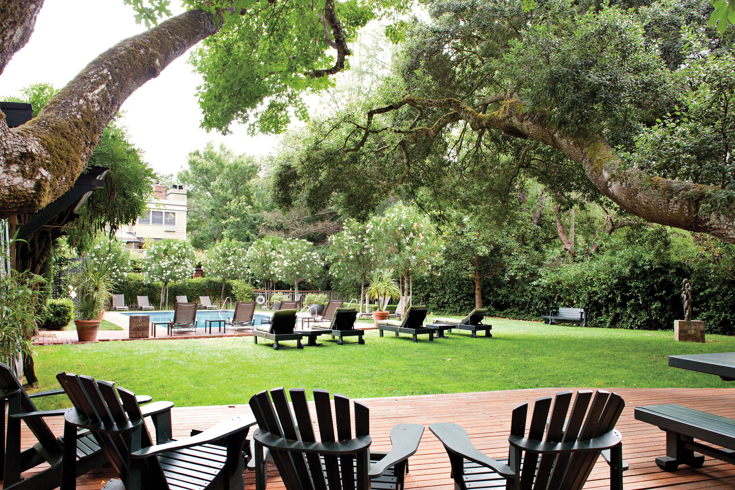 Boutique Grounds Inn Romance tree grass chair park Picnic wooden Garden backyard flower lawn plant day shade