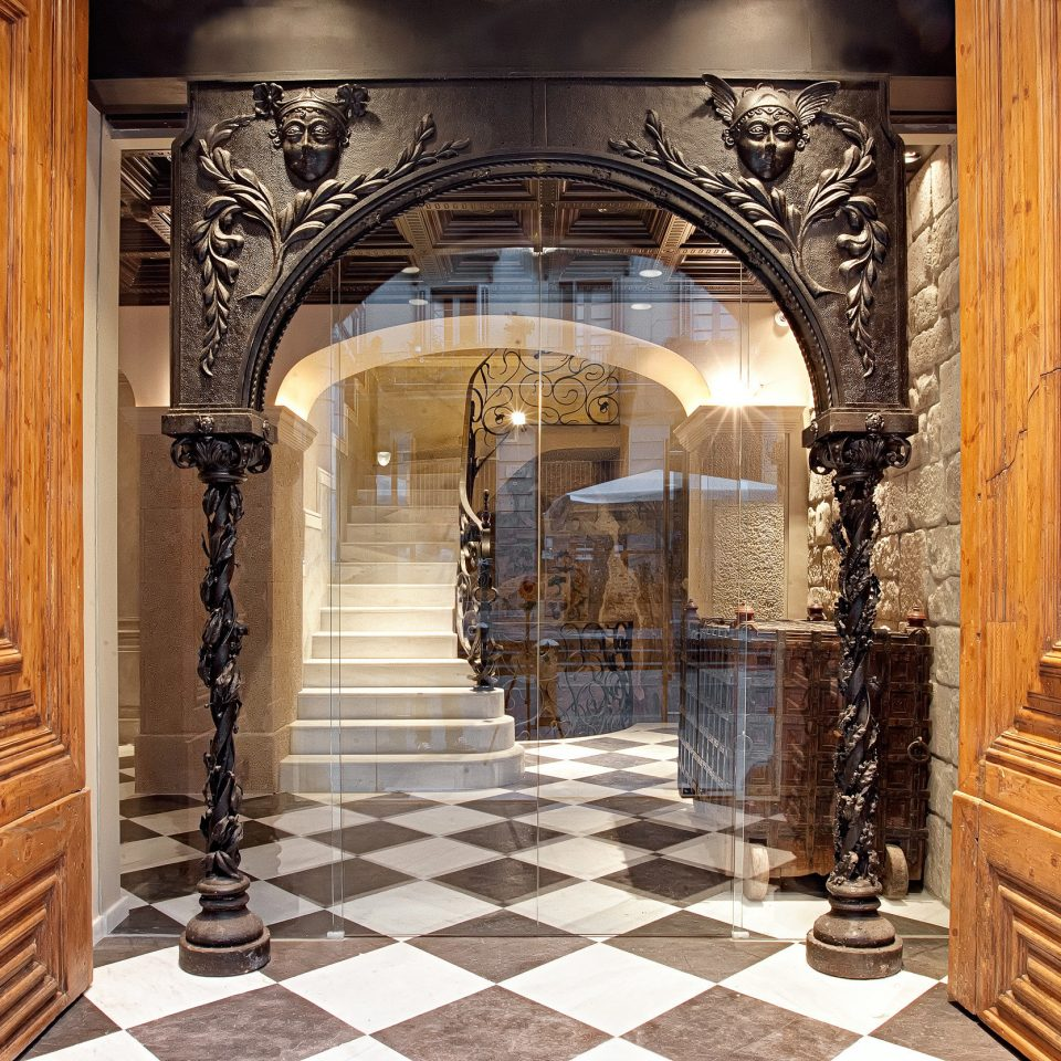 Boutique Hip Historic Lobby Luxury building wooden flooring mansion hall arch door
