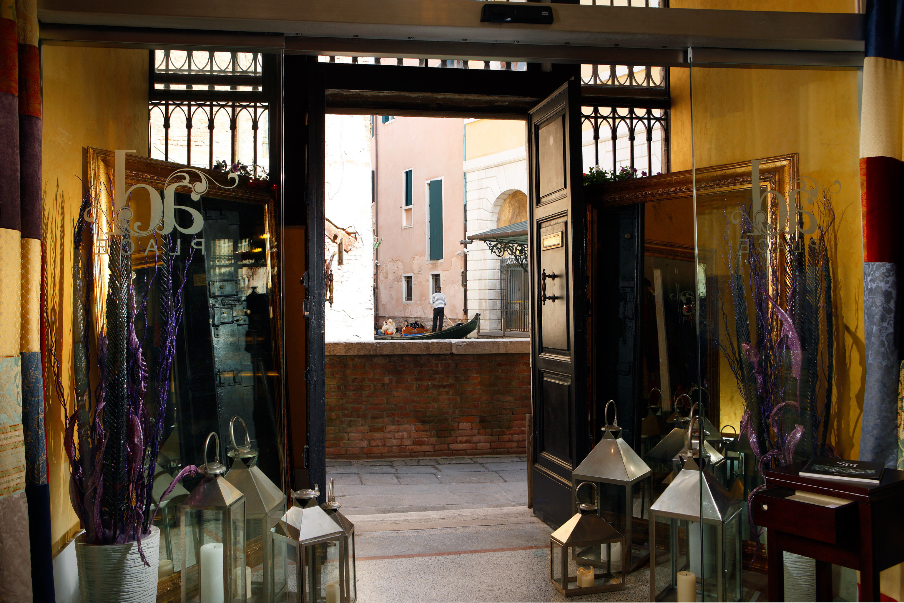 Hip Historic Lobby Luxury Boutique retail home display window shopping door