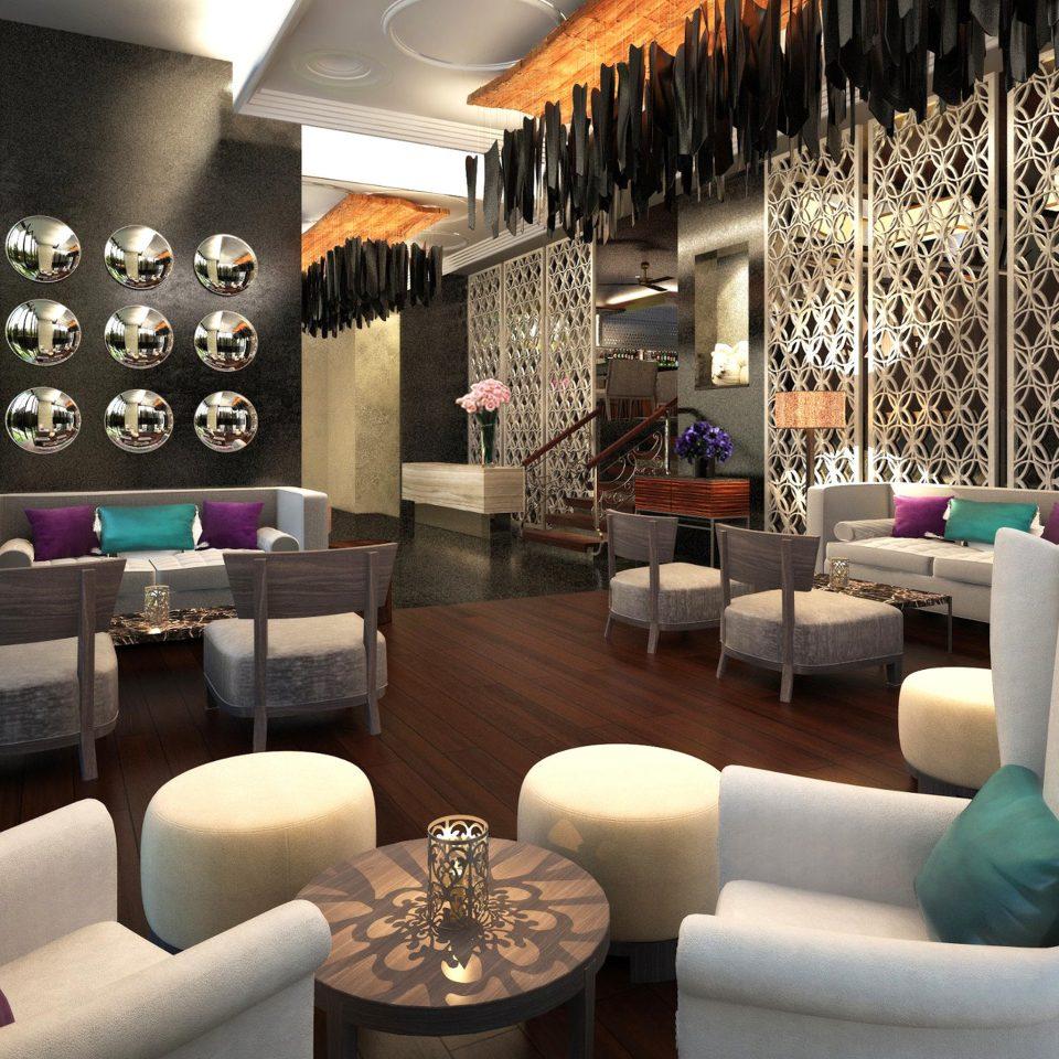 Hip Lounge Luxury Modern Lobby living room lighting restaurant Boutique
