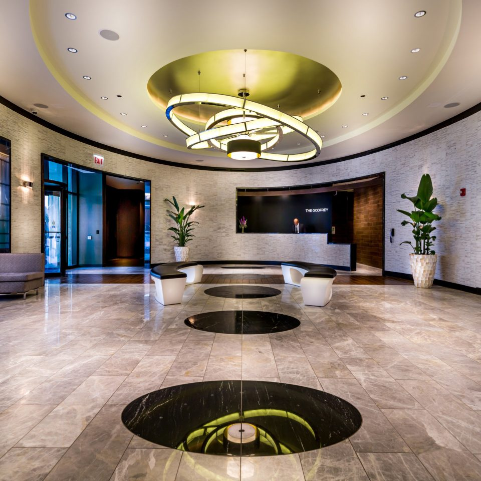 Boutique Hip Lobby Lounge Modern property counter flooring living room mansion