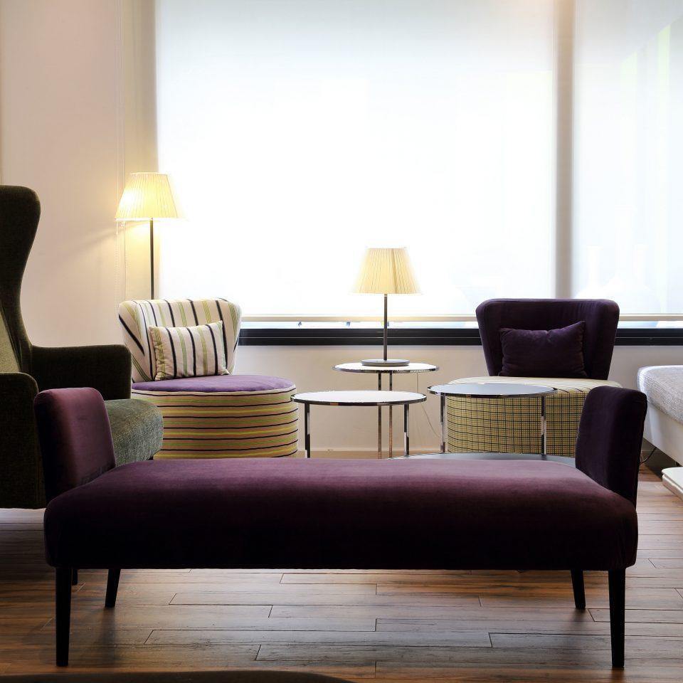 Boutique Hip Lobby Modern sofa chair living room couch hardwood lighting studio couch