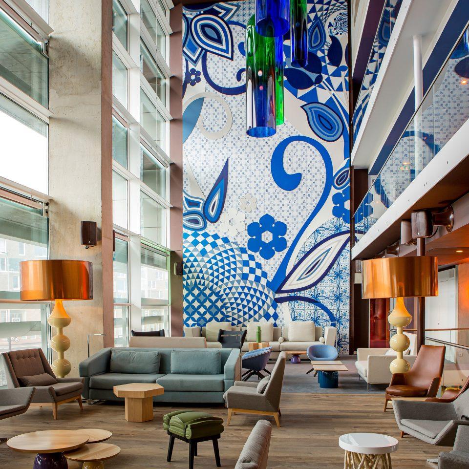 Boutique Hip Lobby Modern property condominium home living room Resort