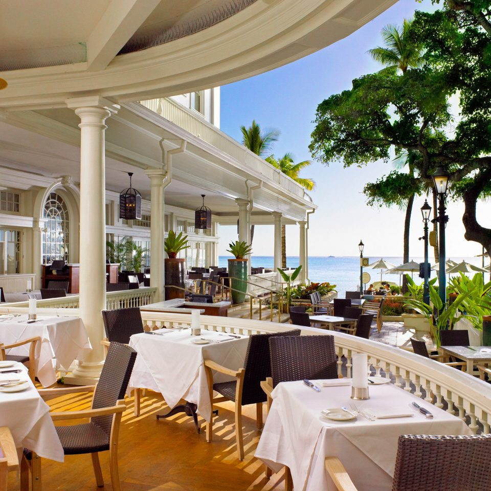 Boutique Hotels Dining Drink Eat Hawaii Honolulu Hotels Resort Scenic views chair restaurant function hall palace Villa set