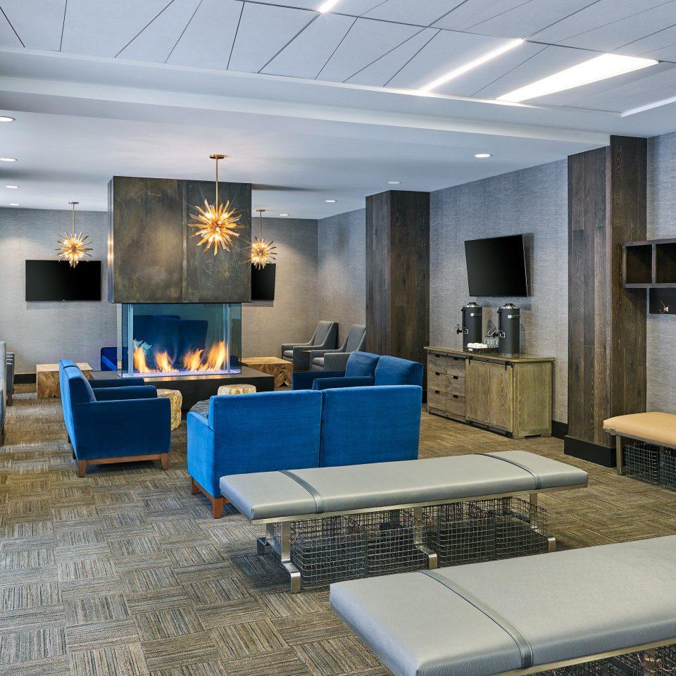 Boutique Hotels Hotels Outdoors + Adventure Winter Lobby living room flooring penthouse apartment interior designer Suite blue