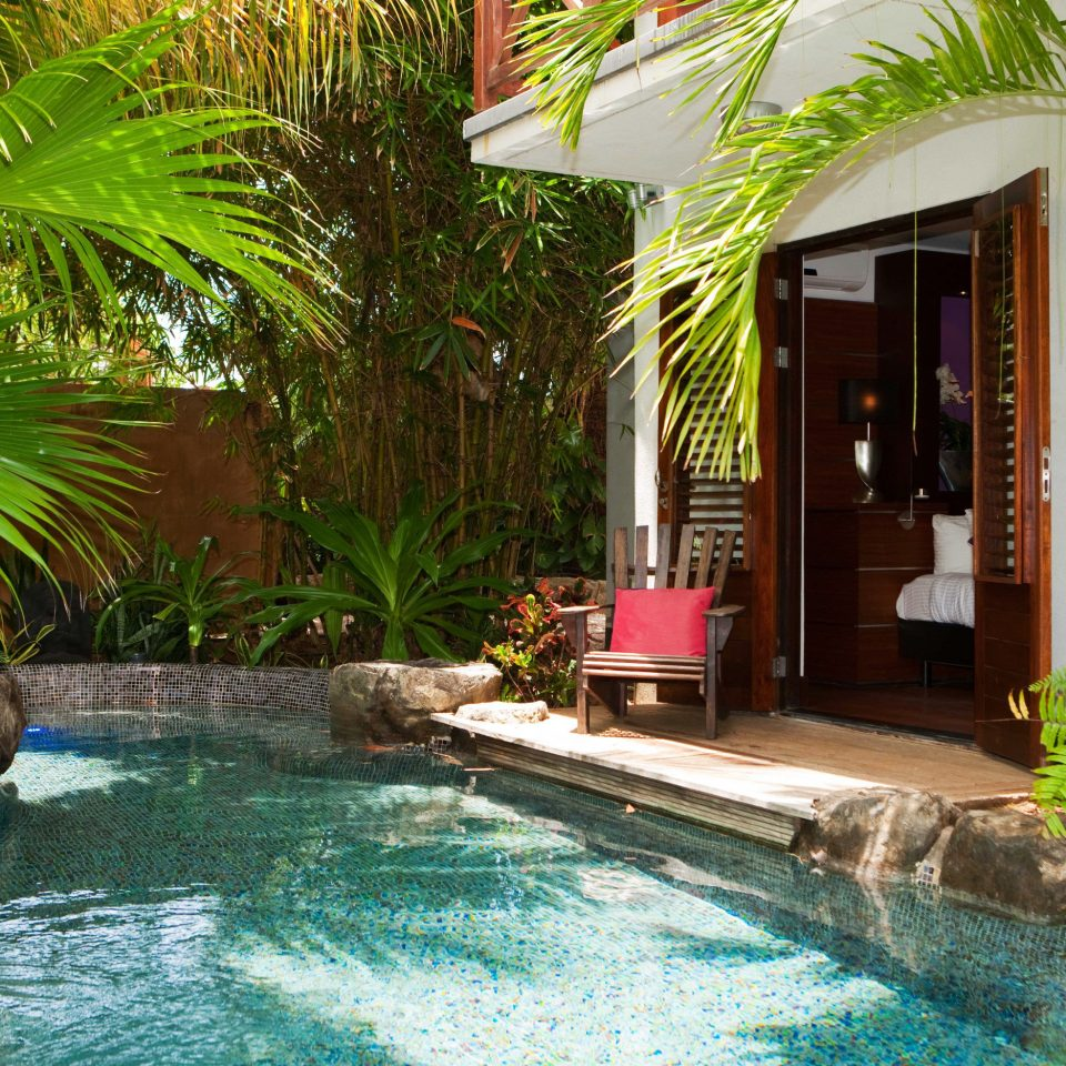 Boutique Hotels Lounge Luxury Modern Pool Romantic Getaways Romantic Hotels Tropical tree water swimming pool plant property Resort backyard Villa arecales eco hotel condominium palm swimming